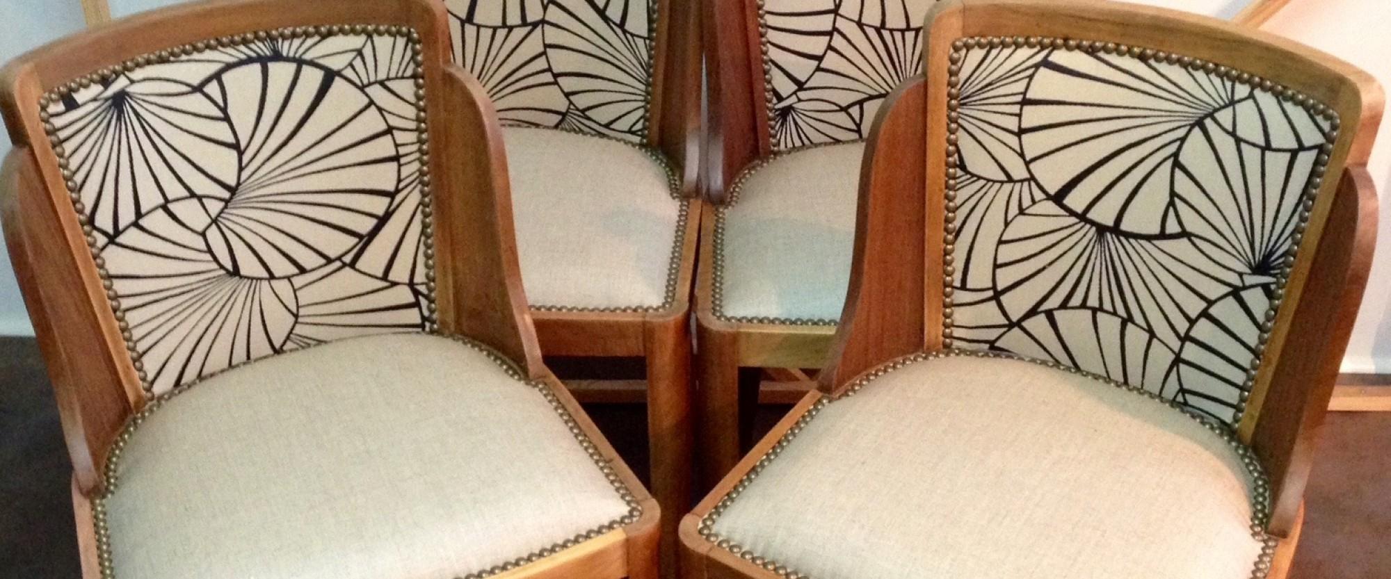 Restauration Chaise Art Deco Bordeaux