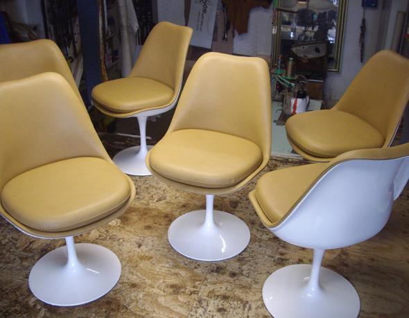 Rénovation de chaises Tulip Knoll