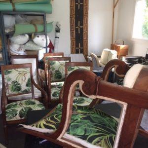 Réfection de six fauteuils Restauration