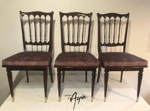 Rénovation de 6 chaises de Style Regency